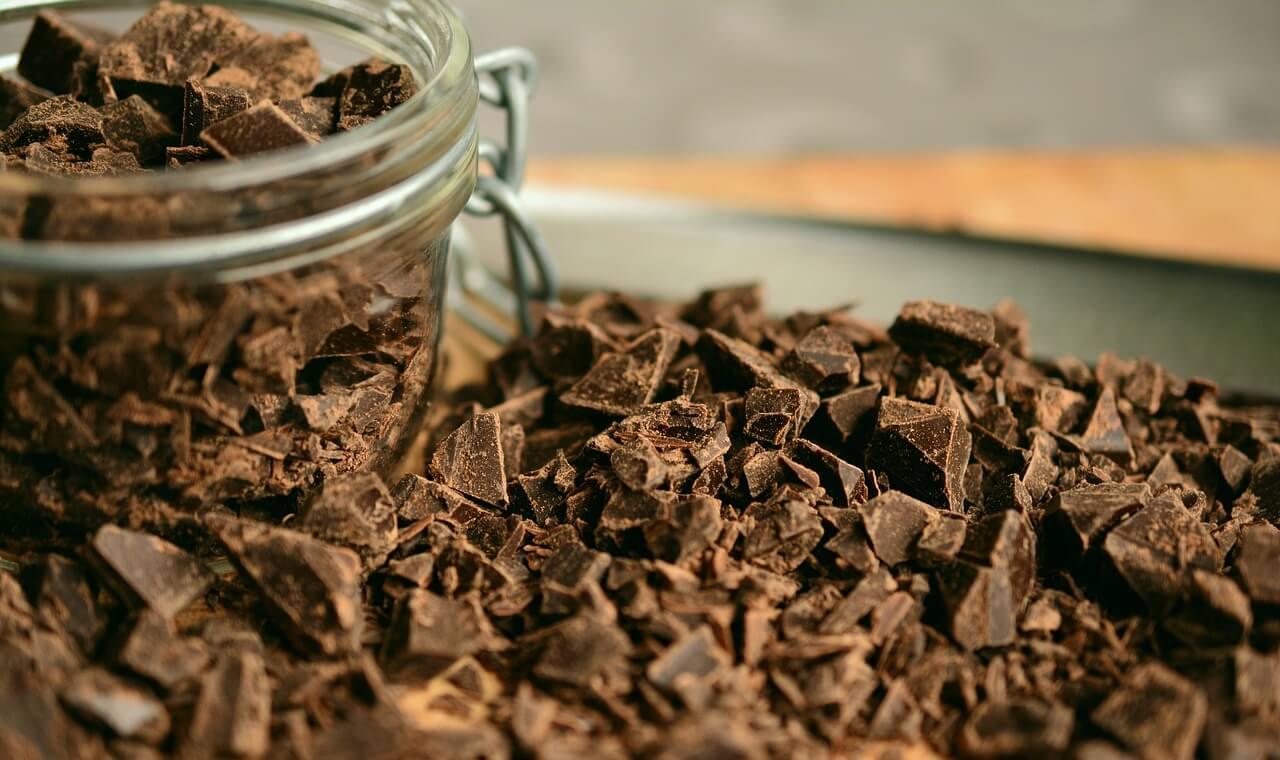 Chokladkross i en glasburk